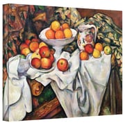 """ArtWall """"Apples and Oranges"""" Gallery Wrapped Canvas Arts By Paul Cezanne"""