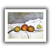 """ArtWall """"Fruit on a Cloth"""" Unwrapped Canvas Arts By Paul Cezanne"""
