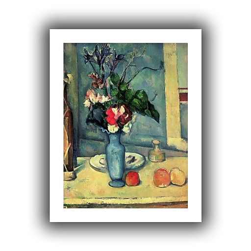 Artwall The Blue Vase Unwrapped Canvas Art By Paul Cezanne 32 X