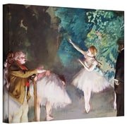 """ArtWall """"Ballet Rehearsal"""" Gallery Wrapped Canvas Arts By Edgar Degas"""