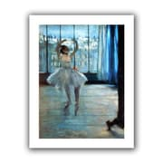 """ArtWall """"Dancer in Front of a Window"""" Unwrapped Canvas Arts By Edgar Degas"""
