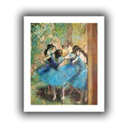 "ArtWall ""Dancers in Blue"" Flat Unwrapped Canvas Arts By Edgar Degas"