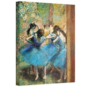 """ArtWall """"Dancers in Blue"""" Gallery Wrapped Canvas Arts By Edgar Degas"""