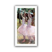 """ArtWall """"Dancers in Violet Dresses,..."""" Flat Unwrapped Canvas Arts By Edgar Degas"""