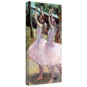 """ArtWall """"Dancers in Violet Dresses,..."""" Gallery Wrapped Canvas Arts By Edgar Degas"""
