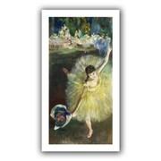 "ArtWall ""End of an Arabesque"" Flat Unwrapped Canvas Arts By Edgar Degas"