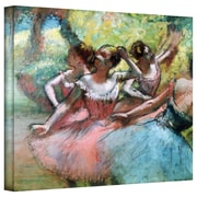 """ArtWall """"Four Ballerinas on The Stage"""" Gallery Wrapped Canvas Arts By Edgar Degas"""