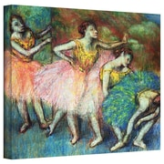 """ArtWall """"Four Dancers"""" Gallery Wrapped Canvas Arts By Edgar Degas"""