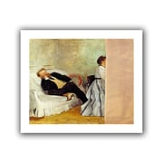 """ArtWall """"Monsieur and Madame..."""" Unwrapped Canvas Arts By Edgar Degas"""