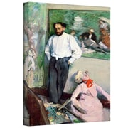 "ArtWall ""Portrait of Henri Michel-Levy..."" Gallery Wrapped Canvas Arts By Edgar Degas"