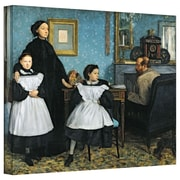 """ArtWall """"The Bellelli Family"""" Gallery Wrapped Canvas Arts By Edgar Degas"""