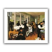 "ArtWall ""The Cotton Office, New Orleans"" Flat Unwrapped Canvas Art By Edgar Degas, 14"" x 18"""