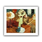 """ArtWall """"The Millinery Shop"""" Flat Unwrapped Canvas Arts By Edgar Degas"""