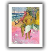 "ArtWall ""A Walk by The Sea"" Unwrapped Canvas Arts By Paul Gauguin"