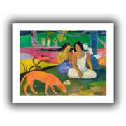 """ArtWall """"Arearea, The Red Dog"""" Unwrapped Canvas Art By Paul Gauguin, 36"""" x 48"""""""