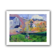 """ArtWall """"Brittany Landscape The David Mill"""" Unwrapped Canvas Arts By Paul Gauguin"""