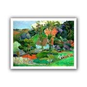 "ArtWall ""Landscape at Pont Aven"" Unwrapped Canvas Art By Paul Gauguin, 14"" x 18"""
