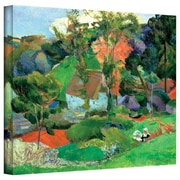 """ArtWall """"Landscape at Pont Aven"""" Gallery Wrapped Canvas Art By Paul Gauguin, 18"""" x 24"""""""