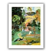 "ArtWall ""Matamoe, Landscape..."" Unwrapped Canvas Art By Paul Gauguin, 32"" x 24"""