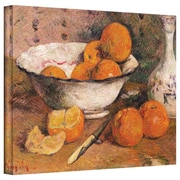 """ArtWall """"Still Life with Oranges"""" Gallery Wrapped Canvas Arts By Paul Gauguin"""