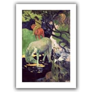 "ArtWall ""The White Horse"" Unwrapped Canvas Art By Paul Gauguin, 36"" x 24"""