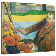 """ArtWall """"Van Gogh Painting Sunflowers"""" Gallery Wrapped Canvas Arts By Paul Gauguin"""