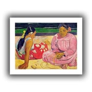 "ArtWall ""Women of Tahiti, on The Beach"" Unwrapped Canvas Art By Paul Gauguin, 36"" x 48"""
