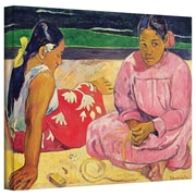 "ArtWall ""Women of Tahiti, on The Beach"" Gallery Wrapped Canvas Art By Paul Gauguin, 18"" x 24"""