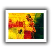 "ArtWall ""What is it Ma?"" Unwrapped Canvas Art By Bayo Iribhogbe, 18"" x 14"""