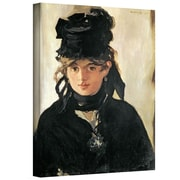 """ArtWall """"Berthe Morisot with a Bouquet..."""" Gallery Wrapped Canvas Art By Edouard Manet, 24"""" x 18"""""""