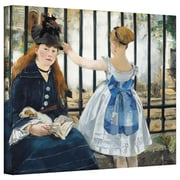 """ArtWall """"The Railway"""" Gallery Wrapped Canvas Arts By Edouard Manet"""