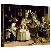 """ArtWall """"Las Meninas"""" Gallery Wrapped Canvas Arts By Diego Velazquez"""