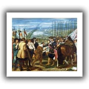 """ArtWall """"The Surrender of Breda"""" Flat Unwrapped Canvas Arts By Diego Velazquez"""