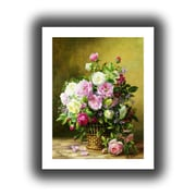"ArtWall ""Roses"" Unwrapped Canvas Arts By Albert Williams"