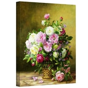 """ArtWall """"Roses"""" Gallery Wrapped Canvas Arts By Albert Williams"""