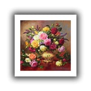 """ArtWall """"Roses from a Victorian Garden"""" Unwrapped Canvas Arts By Albert Williams"""