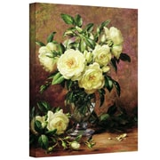 """ArtWall """"White Roses, A Gift from The.."""" Gallary Wrapped Canvas Art By Albert Williams, 18"""" x 24"""""""