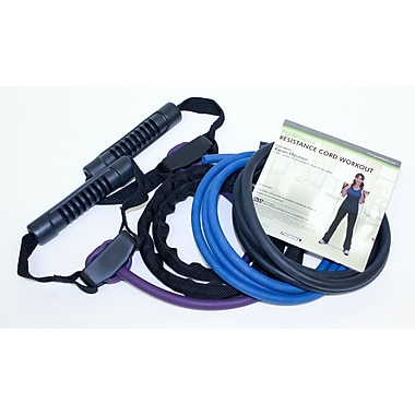 Trimax Sports Zenzation Studio-Grade Resistance Cords Kit, 6 Pieces/Pack