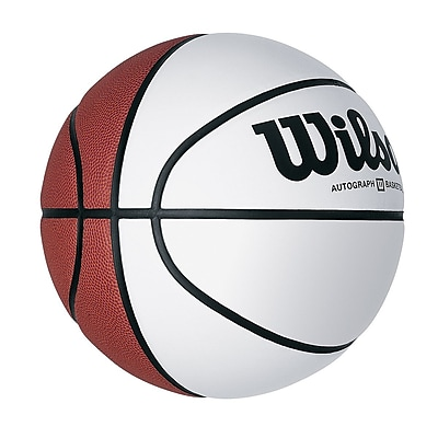 Wilson® Autograph Basketball With Smooth White Panels, 29 1/2