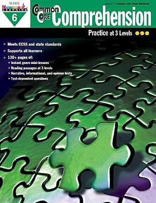 Newmark Learning Common Core Comprehension Book, Grade 6