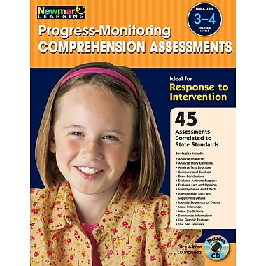 Progress Monitoring Comprehension Assessments with CD-ROM by Newmark Learning Grades 3-4