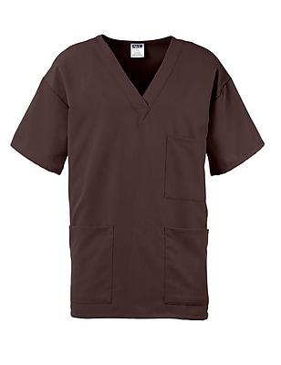 Madison AVE.™ Unisex Scrub Top With 3 Pockets, Chocolate, Large