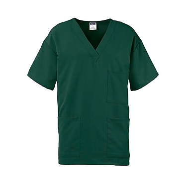 Madison AVE.™ Unisex Scrub Top With 3 Pockets, Hunter Green, Medium