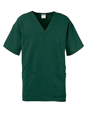 Madison AVE.™ Unisex Scrub Top With 3 Pockets, Hunter Green, XL