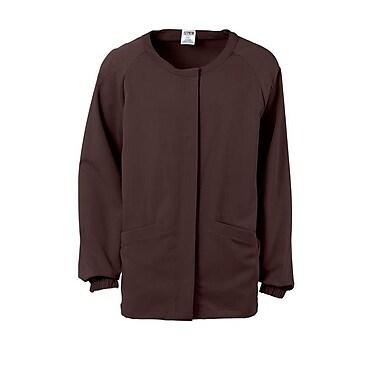 Addison AVE.™ Unisex Hidden Snap Warmup Scrub Jacket, Chocolate, Large