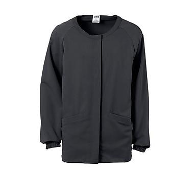 Addison AVE.™ Unisex Hidden Snap Warmup Scrub Jacket, Charcoal, XL