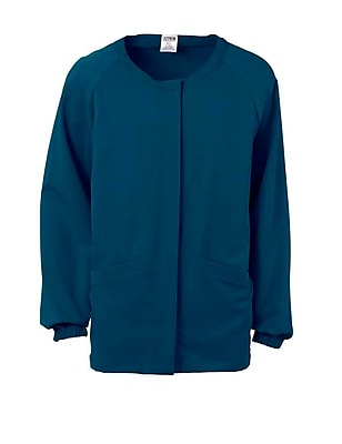 Addison AVE.™ Unisex Hidden Snap Warmup Scrub Jacket, Caribbean Blue, Small