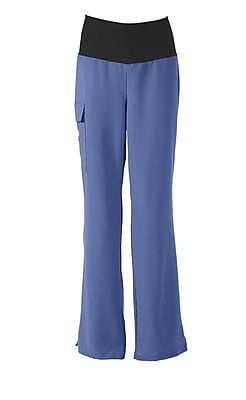 Medline Ocean ave Women XL Yoga Scrub Pants, Ceil Blue (5560CBLXL)