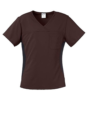 Michigan AVE.™ Yoga Scrub Top, Chocolate, Small