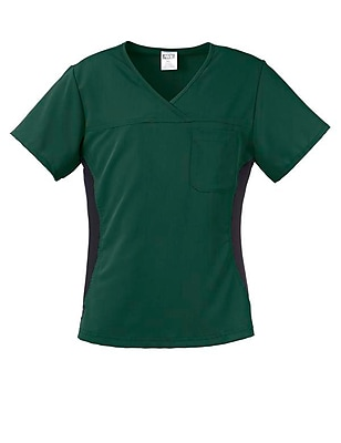 Michigan AVE.™ Yoga Scrub Top, Hunter Green, XL
